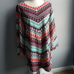 NWT Wrangler Long Top with Western Geo Print, L